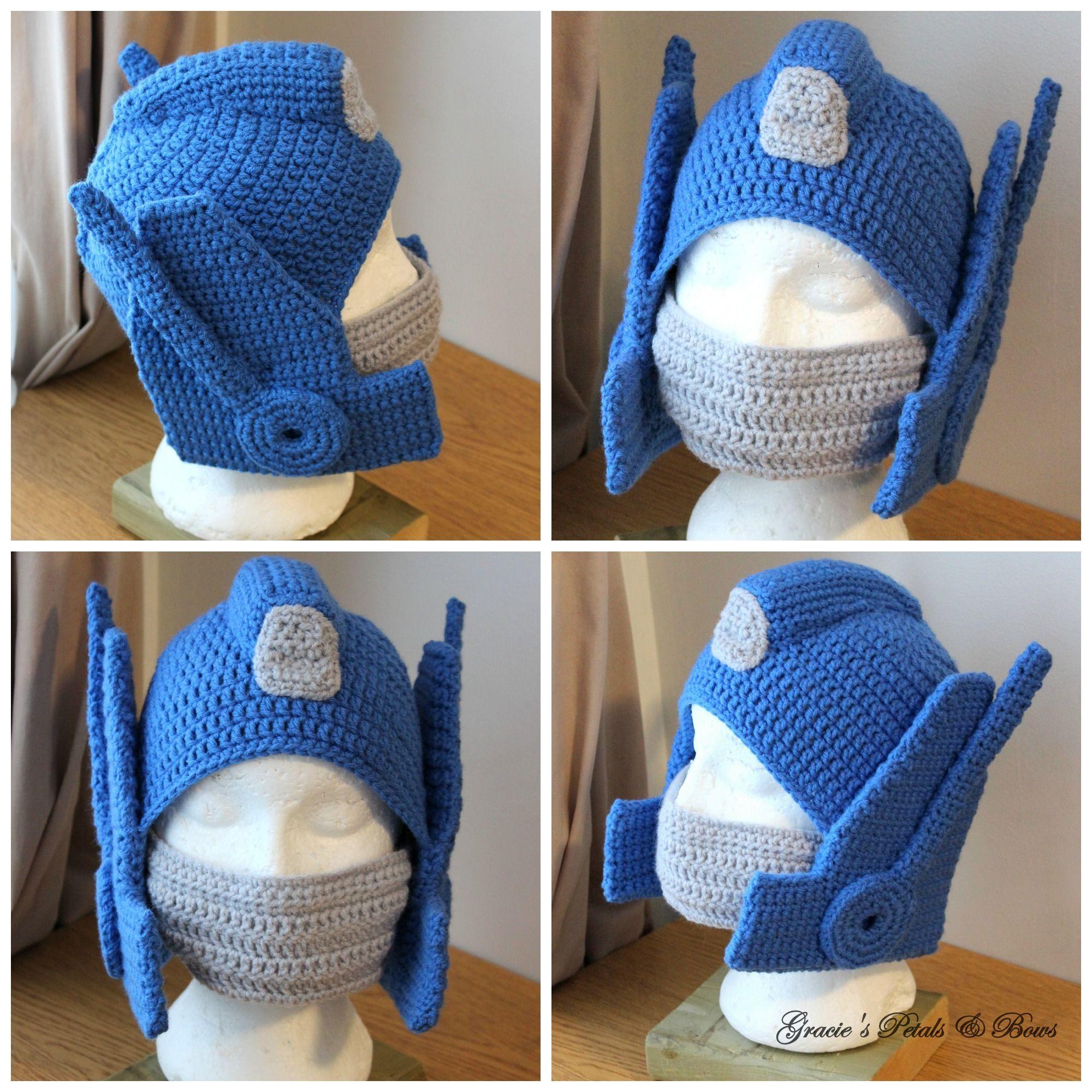 Optimus Prime Inspired Hat Crochet Hats I Make Patrones Gorro