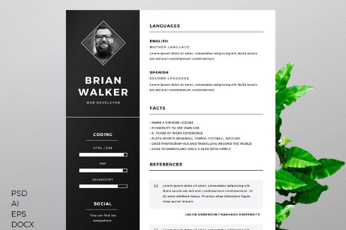 Resume Templates Illustrator Illustrator Resume Resumetemplates Templates Free Resume Template Word Resume Template Word Resume Design Template