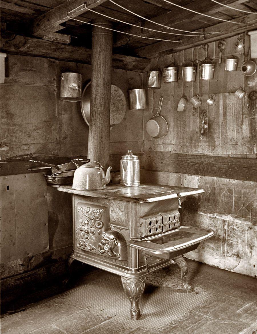 cucina a legna antica - Archivio Shorpy - www.shorpy.com | Oldtime ...