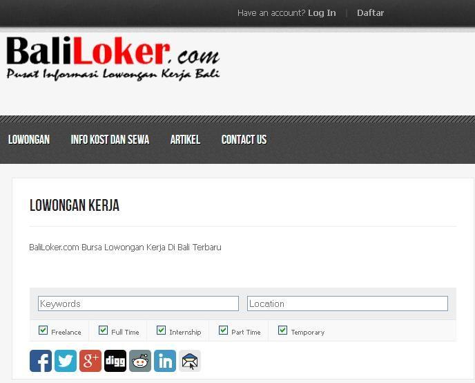 Baliloker Com Bursa Lowongan Kerja Di Bali Terbaru Bali