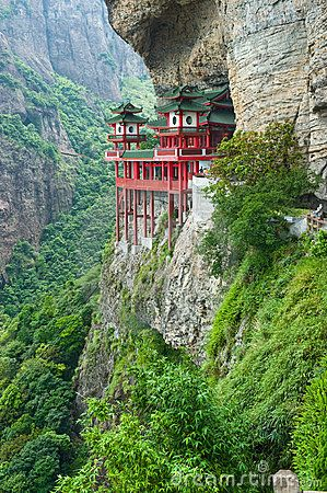 Chinese Temple Mountainside 13016764 Jpg 299 450 Pixeles Places To Travel Beautiful Places Places To Visit