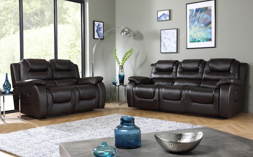 Vancouver Brown Leather Recliner Sofa - 3 Seater in 2019 ...