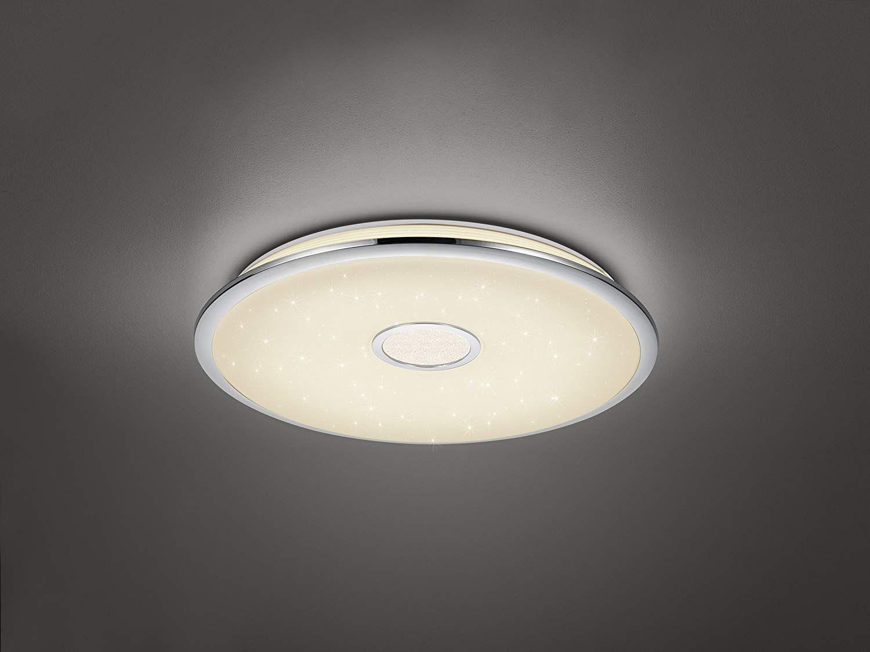 LED Decken Lampe Silber Fernbedienung dimmbar Leuchte Nachtlicht Beleuchtung