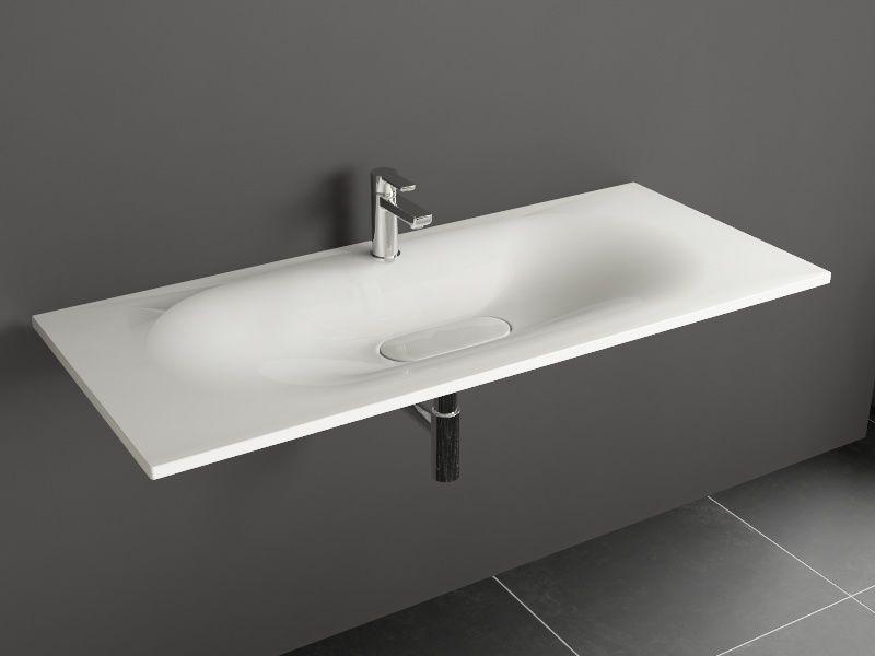 Neutra Waschbecken aqua bagno drop design keramik waschtisch 120cm weiß waschbecken