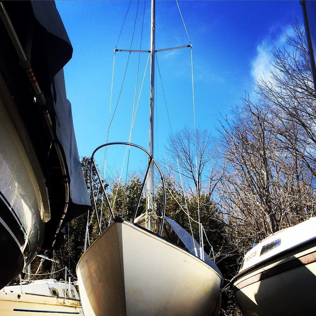 Hello Beautiful // Countdown to sailing season is officially on so the To Do List for Walkabout is definitely growing! // #sailing #summer #greatlakes #walkabout #sailboat #fixerupper #lakehuron #bayfieldontario #canada #ontario #sunshine #floatinghome #harbourlights #happyplace #boat #sailinglife #marina by jenannepate