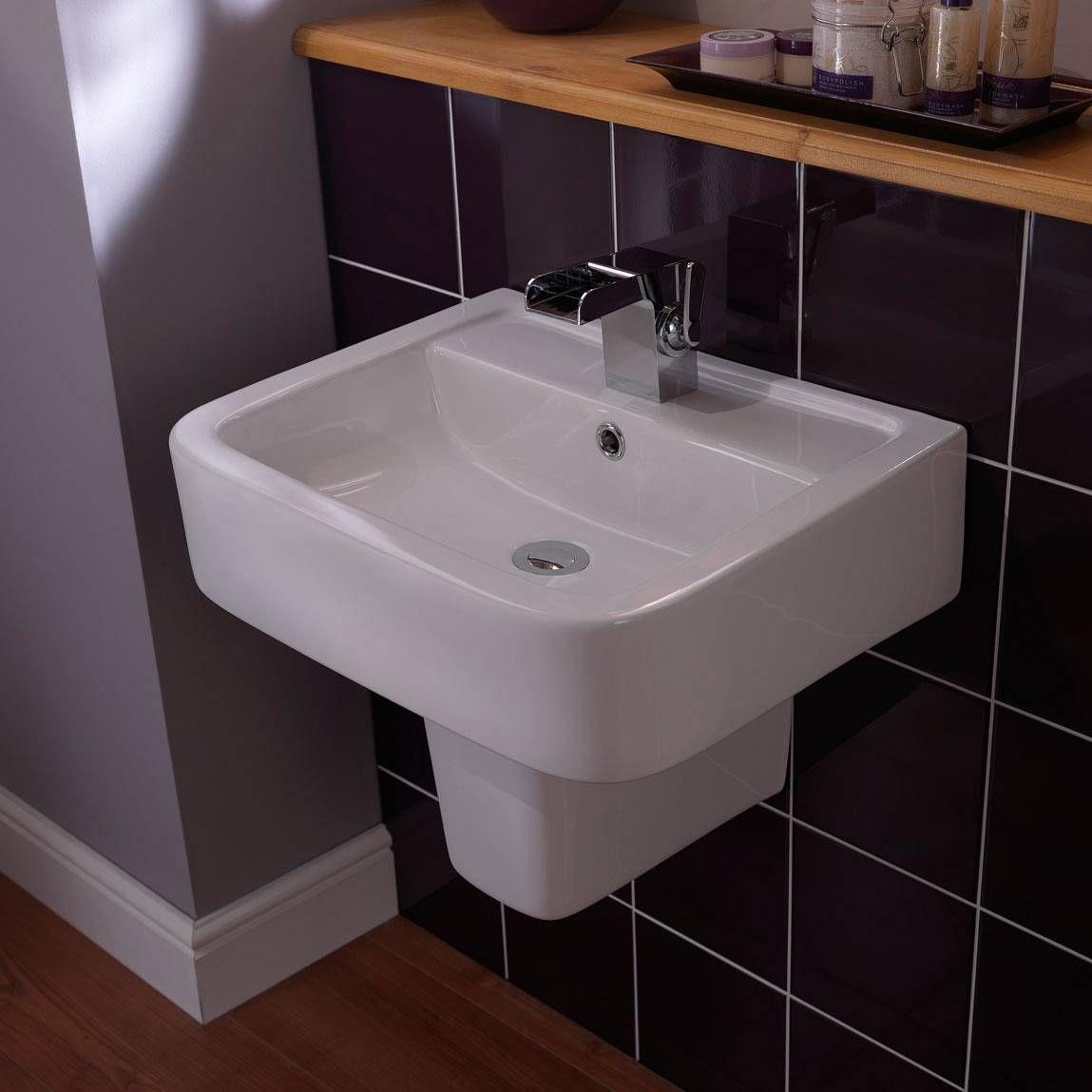 montreal basin semi pedestal small 7999 victoria plumb - Bathroom Accessories Victoria Plumb