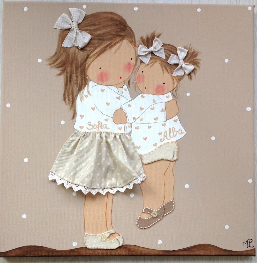 Cuadro de ni as cuadros pinterest patchwork craft and babies - Cuadros para habitaciones de ninas ...