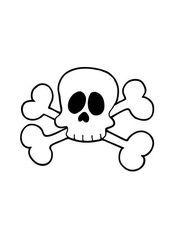Ausmalbilder Kostenlos Totenkopf für Kinder 28349284324 e1540118694326 #skull #...
