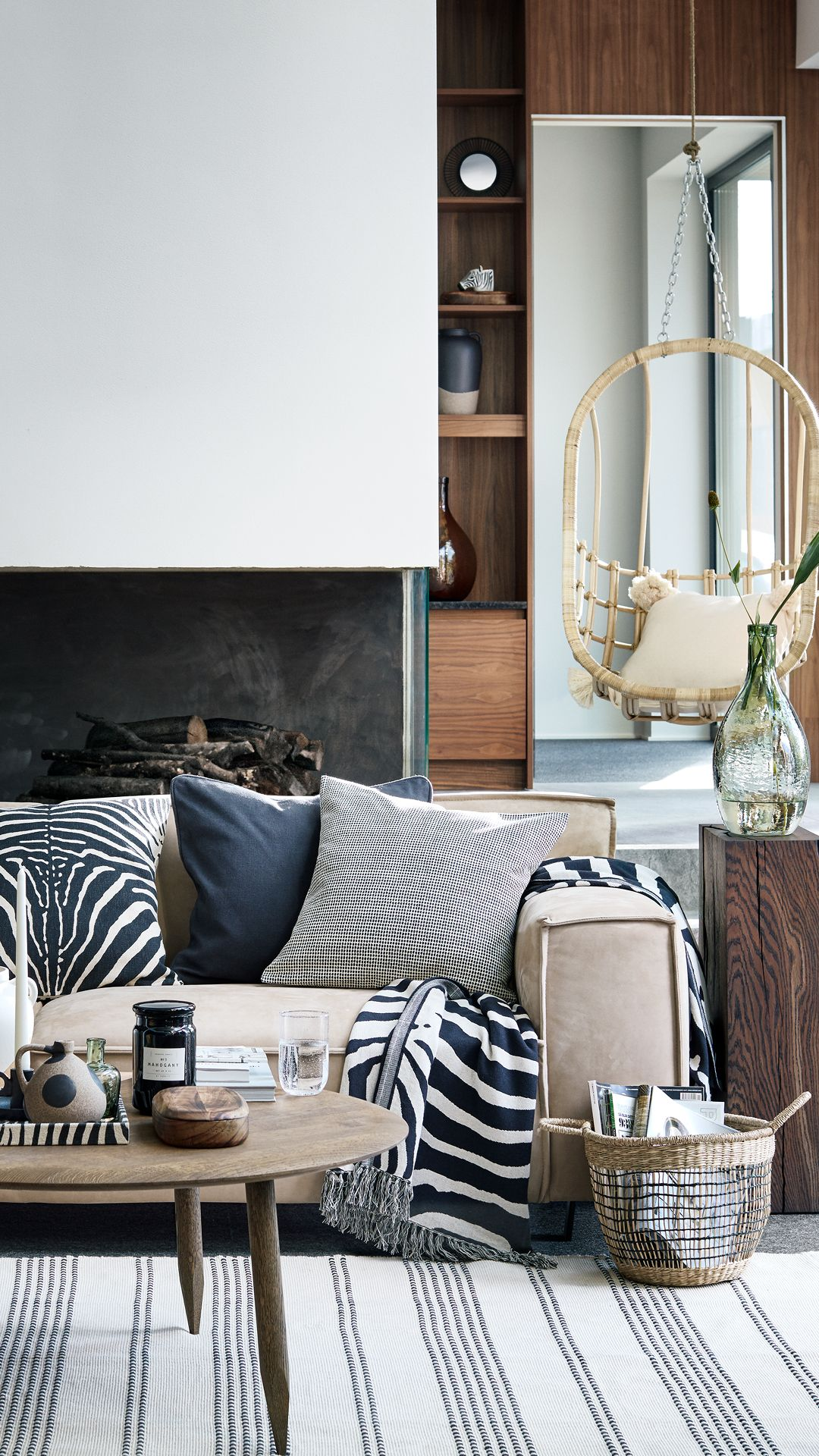 Discover our stylish cushions in zebra prints and neutral tones