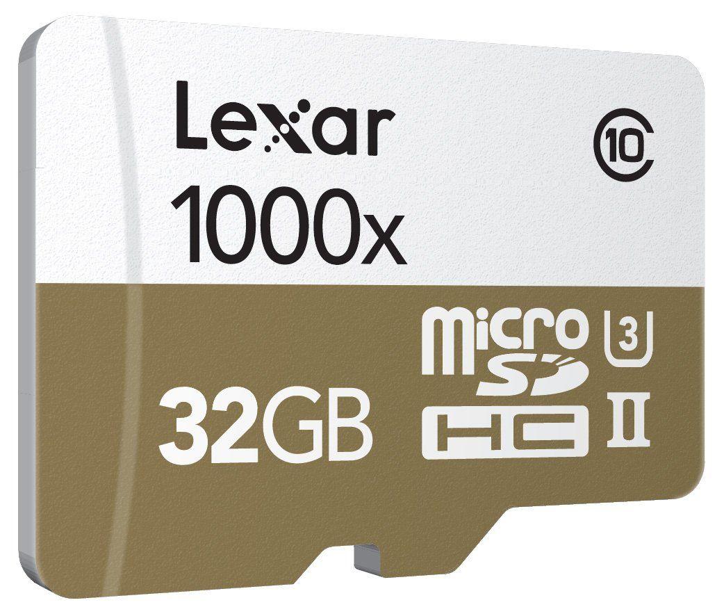 Up to 150MB//s Read W//USB 3.0 Lexar Professional 1000x microSDHC 32GB UHS-II//U3