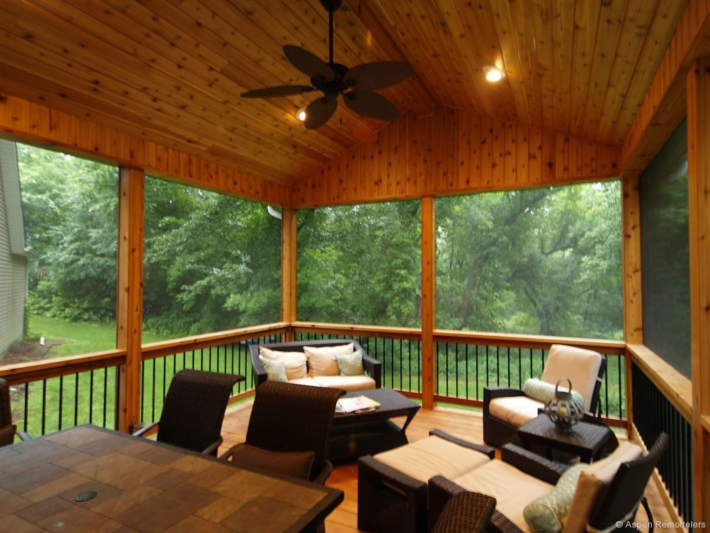 Screen porches screened porch addition minnetonka mn for Screened in porch ideas design