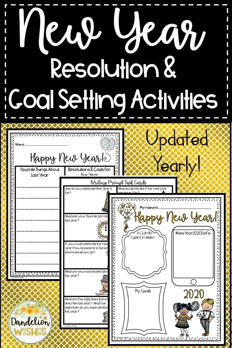 New Year's 2020 Resolution and Goal Setting Activities