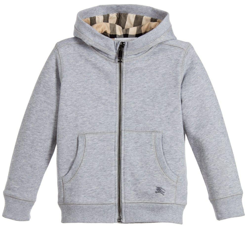burberry hoodie kids grey