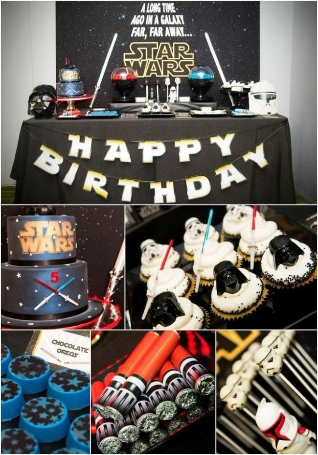Boy S Star Wars Birthday Party Evil Dessert Table Ideas Star Wars Dessert Star Wars Birthday Party Star Wars Party Decorations