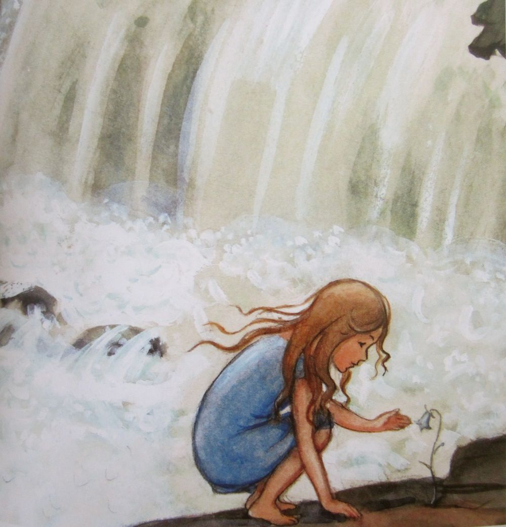 1930s illustration fall children | ... Beskow: The Water Fall from the book: 'Farmor och Fjunlätt', 1930