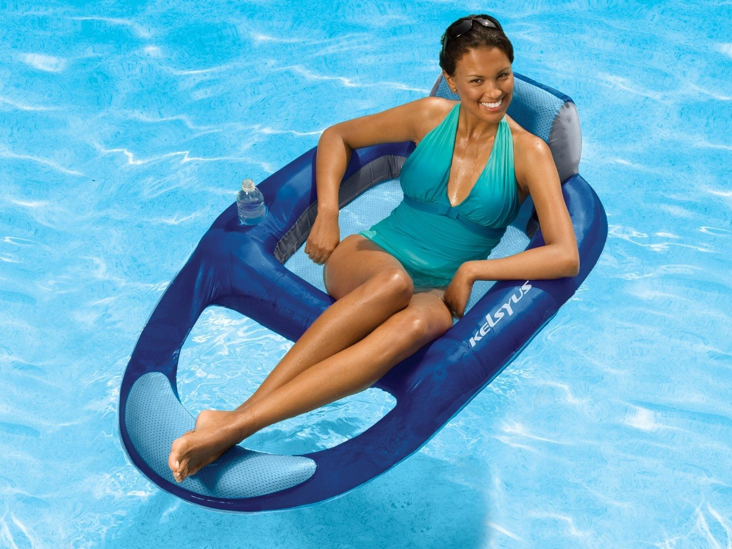 itm green poolmaster outdoor new water lounge swimming res pool floating lounger hammock