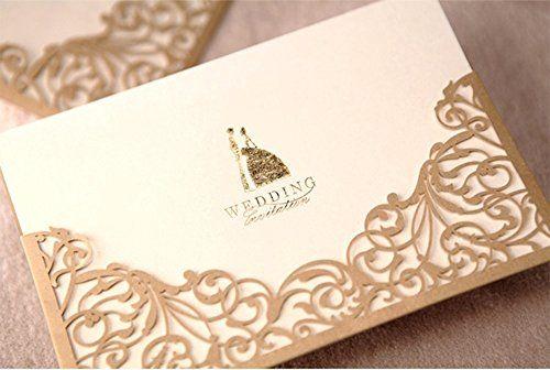Cdwish floral laser cut wedding invitations gold paper cards kit 12 cdwish floral laser cut wedding invitations gold paper cards kit 12 cdwish http stopboris Gallery