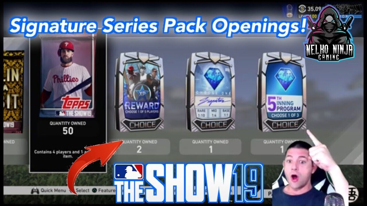 Signature Series Pack Openings Mlb The Show 19 Diamond Dynasty Mlb The Show Mlb Signature