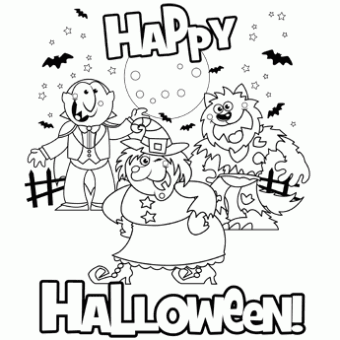 Happy Halloween Coloring Pages For Adults Halloween Coloring Pages Halloween Coloring Pages Printable Halloween Coloring Pages Free Halloween Coloring Pages