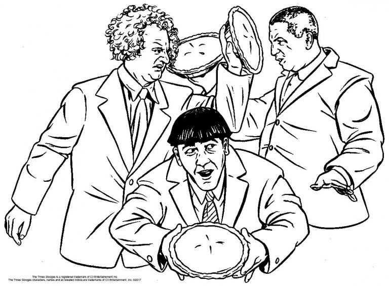 3 Stooges Coloring Sheet Coloring Pages Dog Coloring Page Color