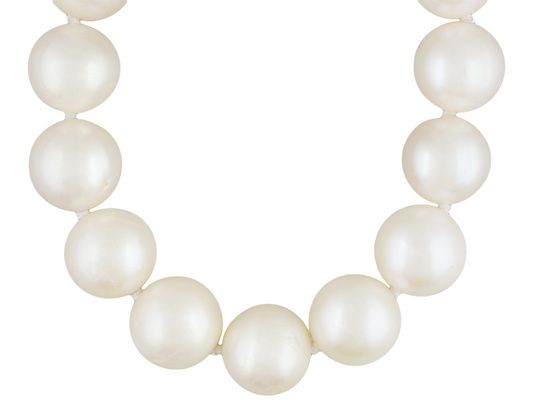 12mm White Cultured Freshwater Pearl Rhodium Over Sterling Silver Stra