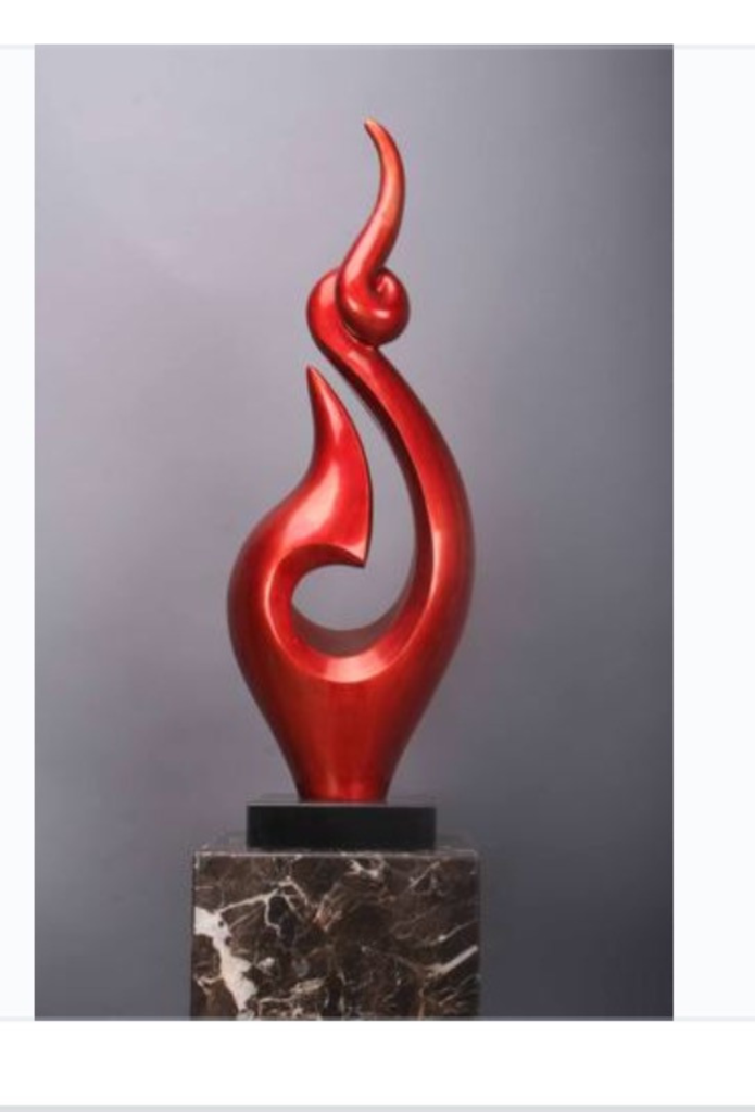 red sculpture with black marble base red sculpture on benjamin moore house paint simulator id=98150