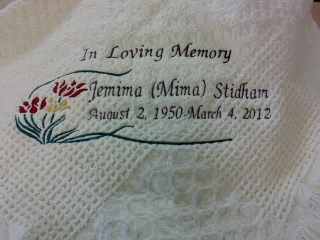 Sympathy afghan Gift Ideas Pinterest Afghans and Funeral memorial