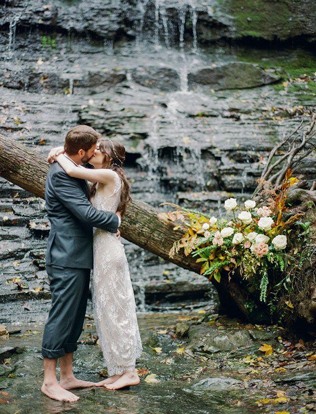Magical Tennessee Waterfall Elopement: Amanda + Michael ...