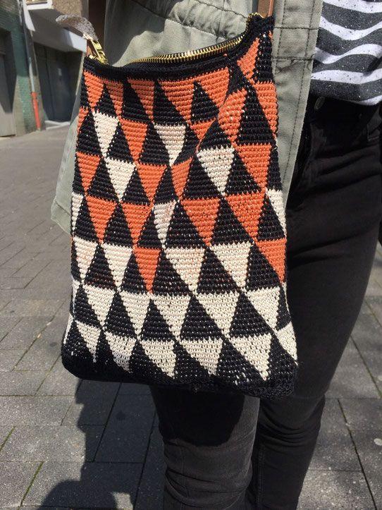 Tasche Trifft Geometrie Häkeln Pinterest Tasche Häkeln Häkeln
