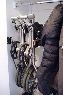 Hang Your Folding Bike In Your Closet