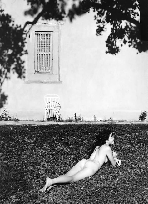 Asian posing nude elegant