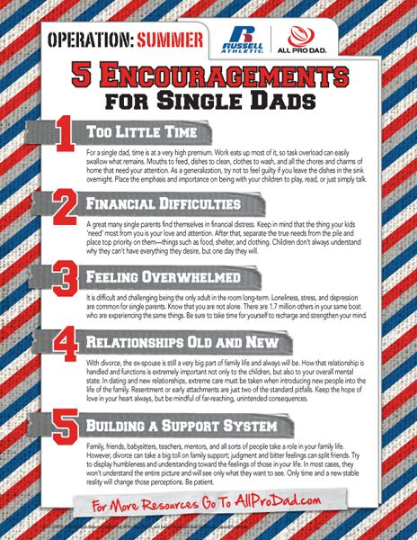 Tips for single dads
