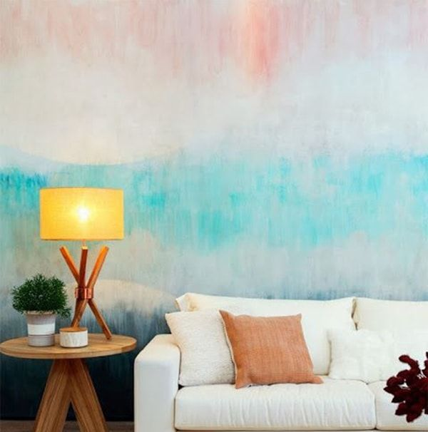 Decora tus paredes con pintura degradada living room - Paredes pintadas originales ...