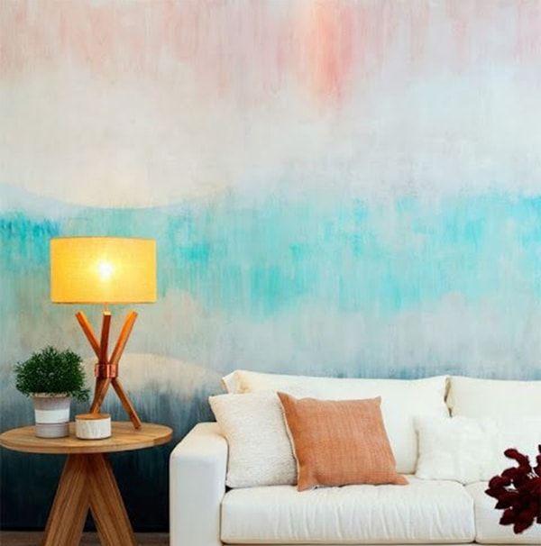decora tus paredes con pintura degradada