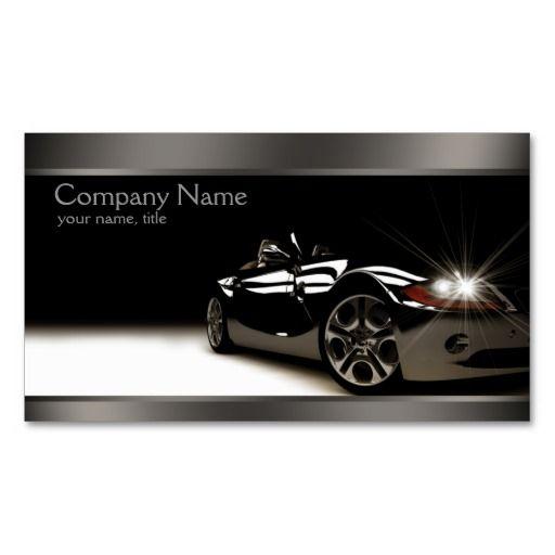 Stylish Black Automotive Business Card | Zazzle.com