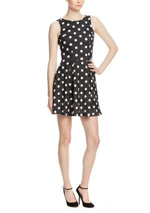 On ideel: CASUAL COUTURE Polka-Dot Fit and Flare Dress