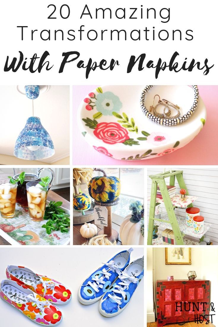 Amazing Transformations With Paper Napkins #papernapkins