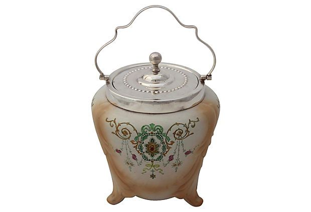 English    Biscuit Barrel, C. 1885