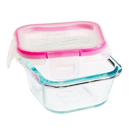 Snapware 1 Cup Glass Square W Total Solution Lid Perfect For Lunchtime Buy Now Snapware Glass Food Storage Food Storage