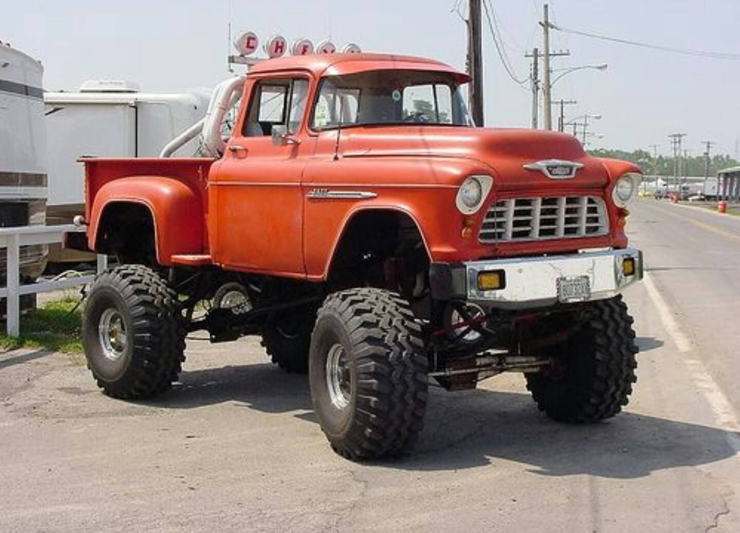 55 chevy 1 ton axles 44in tires 16 inches of lift 572 big