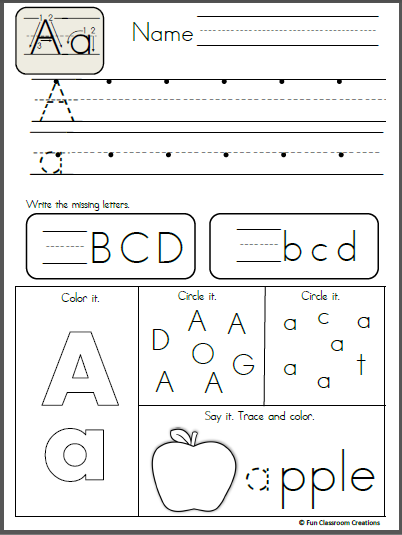 Free Alphabet Letter A Writing