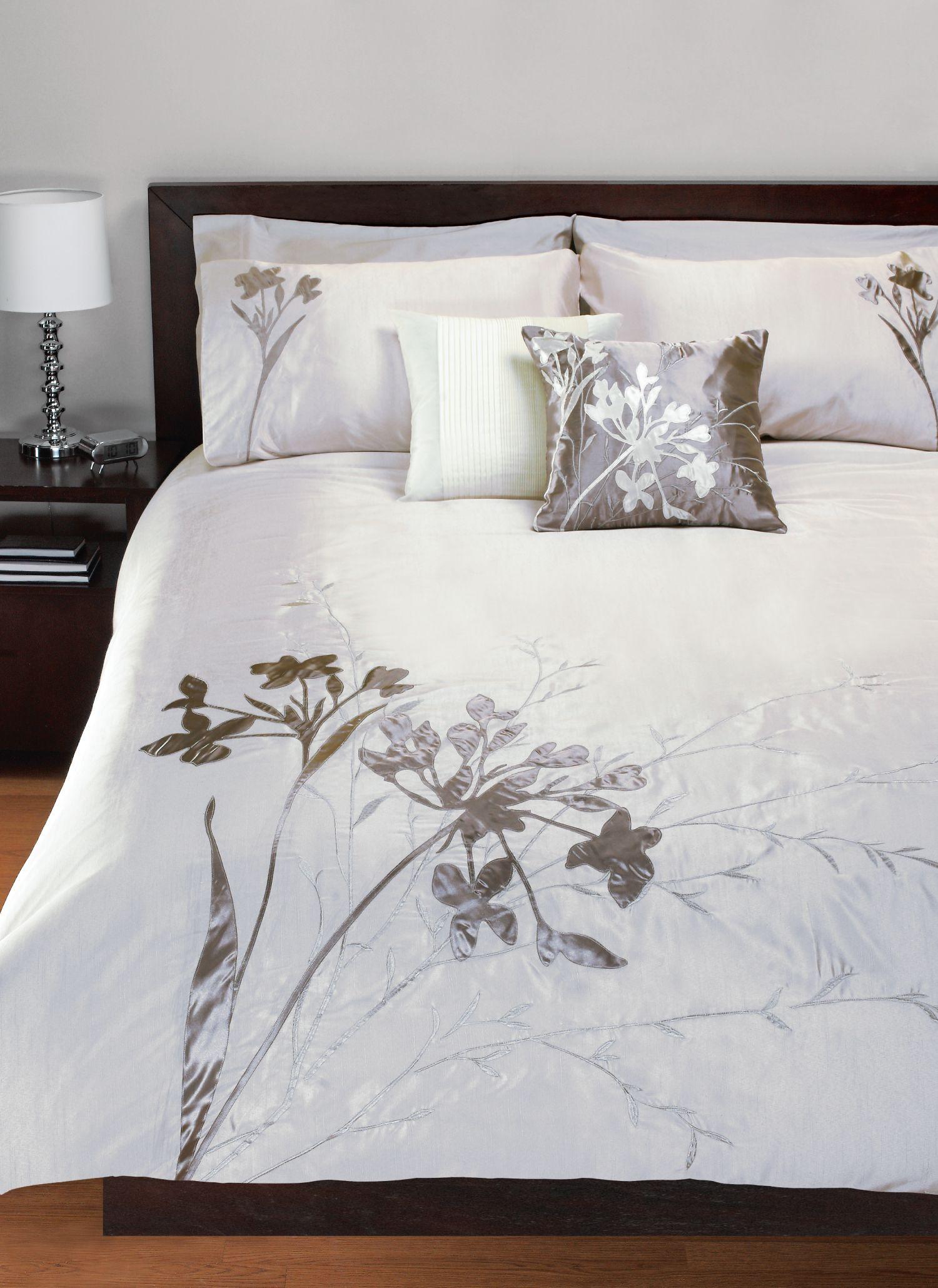 ice meadow 3 piece duvet cover set ensemble de housse de couette 3 morceaux. Black Bedroom Furniture Sets. Home Design Ideas