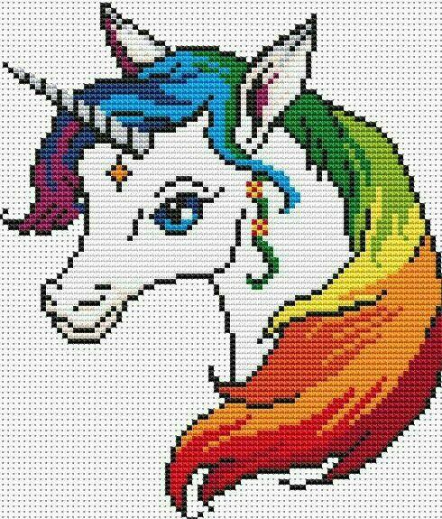 Unicornios Punto Cruz Puntos De Cruz Divertidos Muñecas Punto De Cruz Punto De Cruz Patrones