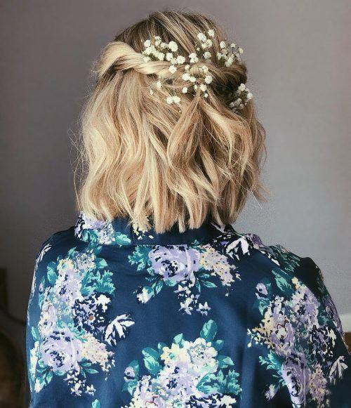 18 wunderschöne Prom Frisuren für kurzes Haar  #frisuren #kurzes #wunderschone #haaretipps #promhairstyles
