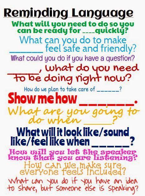 Teacher Language Classroom Discipline Responsive Classroom Classroom Behavior
