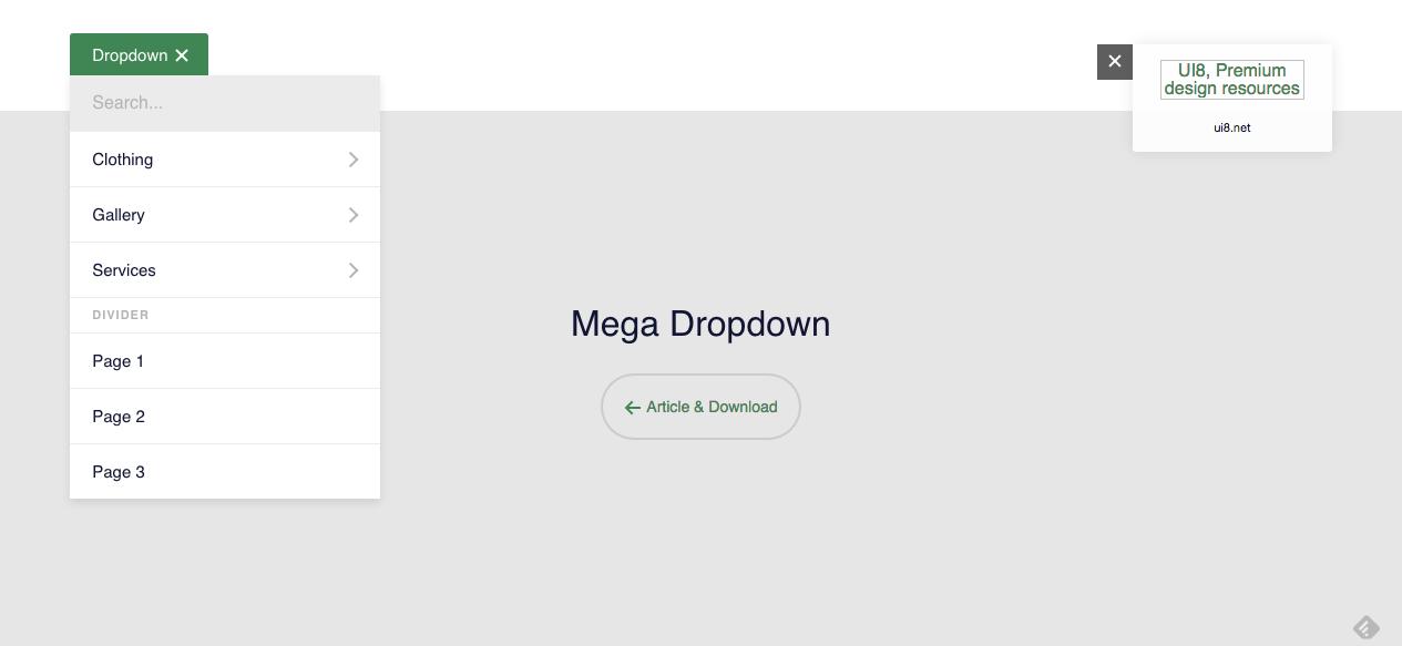 #desktop #menu #megamenu #animation