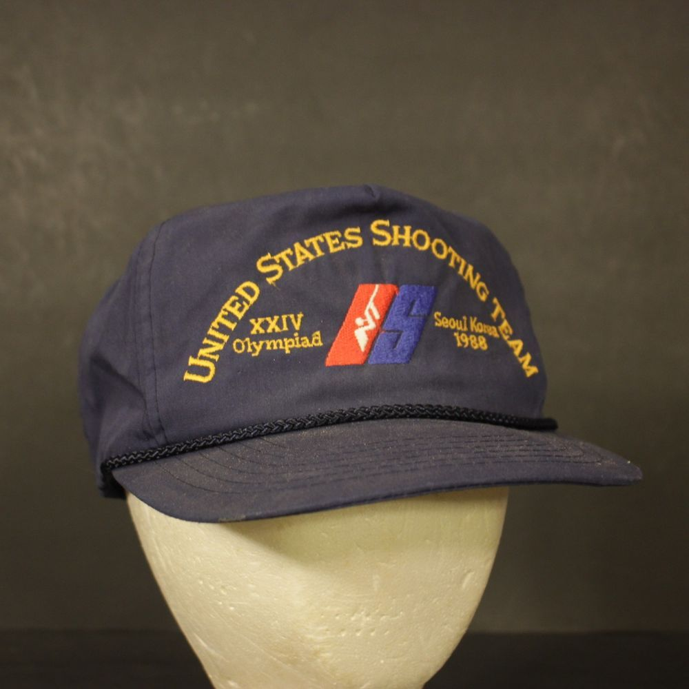 fb7c34eb668 Vintage United States Shooting Team Trucker Hat Cap Olympics 1988 Retro  Hipster  HaT  Trucker