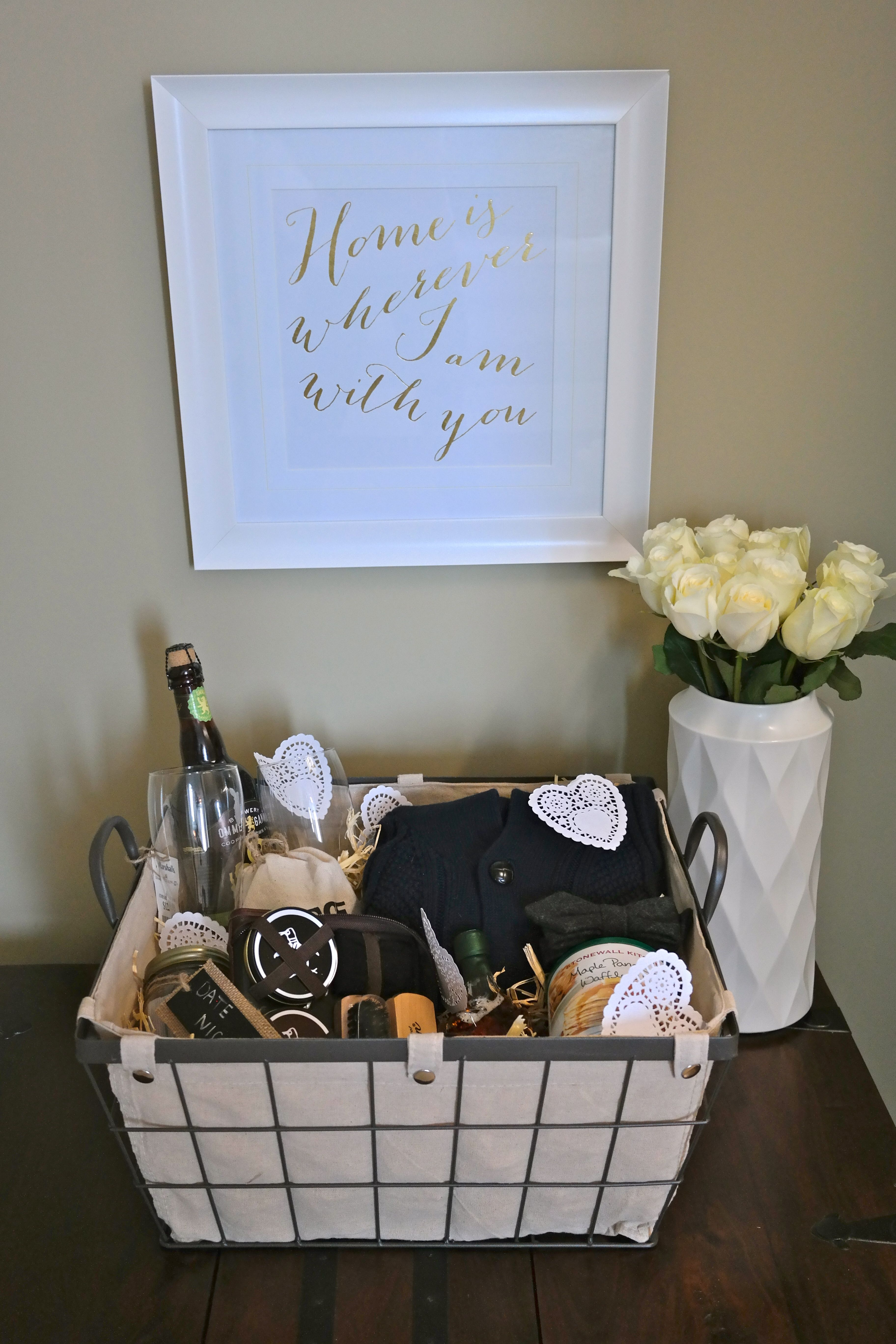 A gift basket of his favorite things for Valentine's Day @marshalls {www.theclosetandthecook.com}