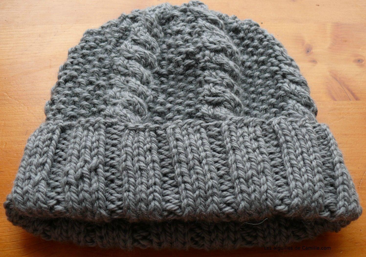 tricoter un bonnet femme aiguille 7
