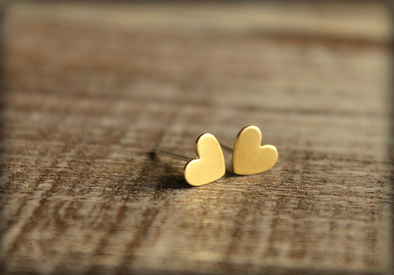 Stainless Steel Small Heart Post Earrings Heart//Love